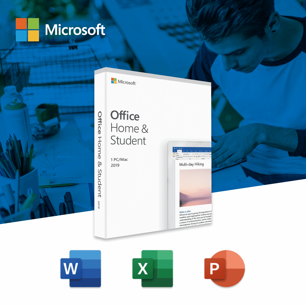 Microsoft Office Home and Student 2019 (English packing) (Medialess)