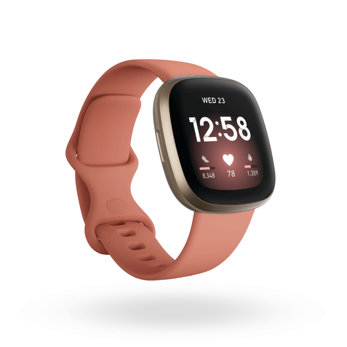 Versa 3, Pale Yellow Gold/Pink Clay
