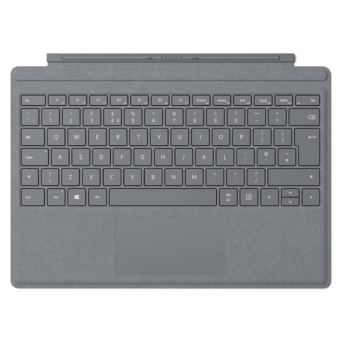 Microsoft® Surface Pro Signature Type Cover Commercial, PLANTINUM, Traditional Chinese