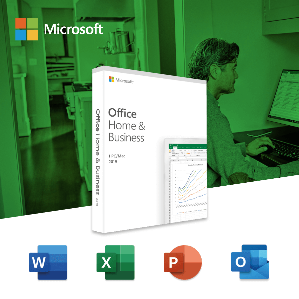 Microsoft Office Home and Business 2019 (Medialess)